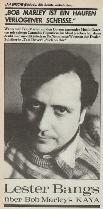 Lester Bangs 1948 - 1982, Hans Keller - kaya